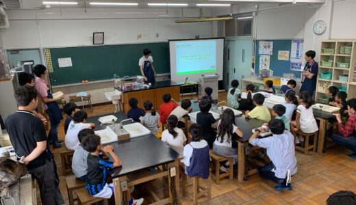 2019/09/13 ホバークラフト工作教室@目黒区立原町小学校
