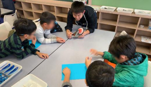 2019/11/30 ラチェットごま・アクセルごま工作教室@大田区内の小学校